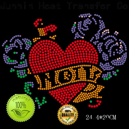 cheap heart shaped rhinestones manufacturer for apparel