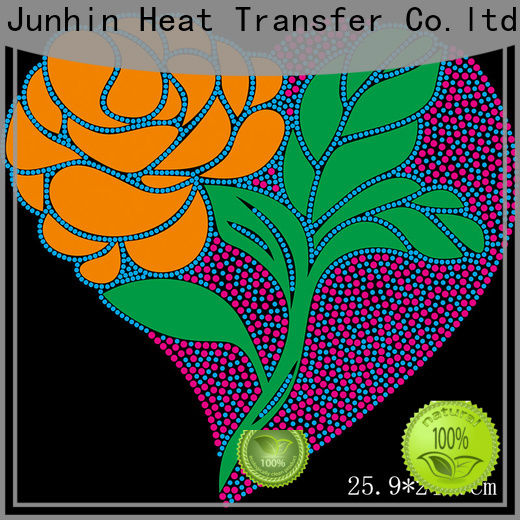 Junhin hot fix rhinestone appliques wholesale for sale