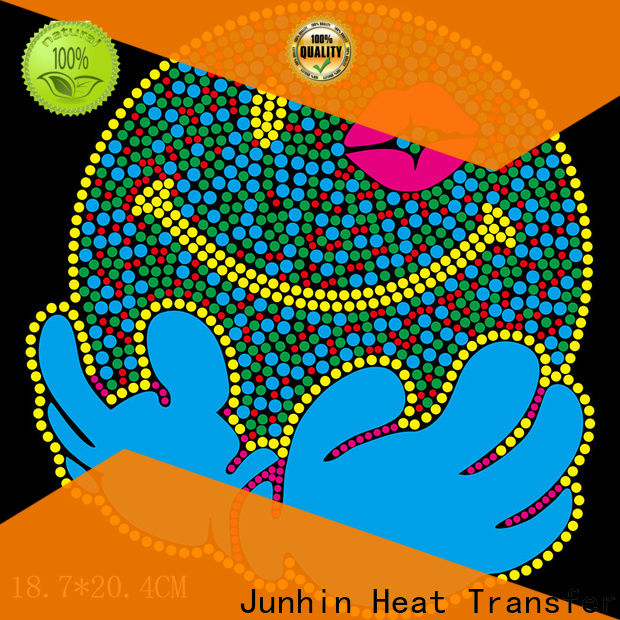 Junhin rhinestone iron on transfers for business for garments