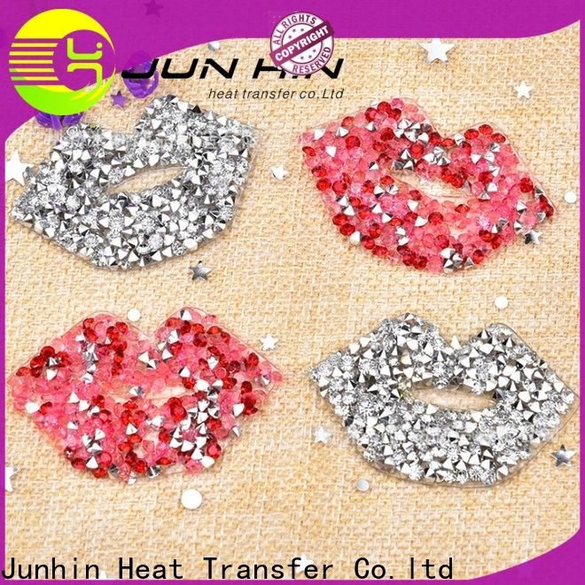 Junhin heat transfer rhinestone sheets supply for textile