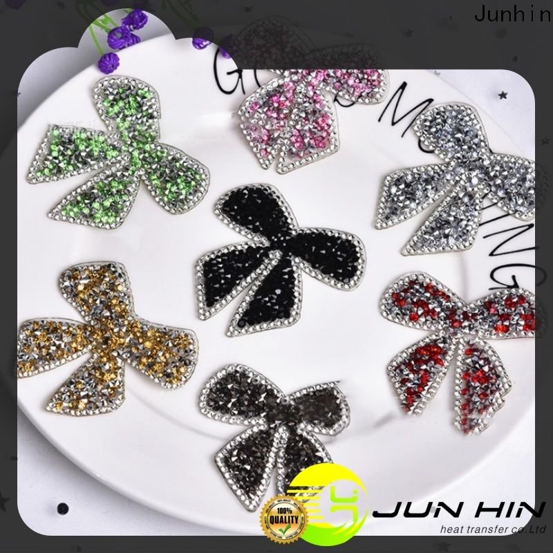 Junhin rhinestone sticker sheets wholesale for garments