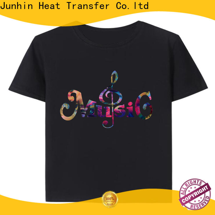 Junhin bedazzled t shirts custom company for garments