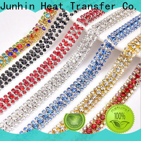 Junhin best price sticky rhinestone sheets company for textile