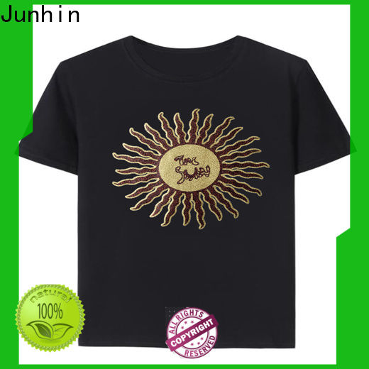 Junhin rhinestone iron ons for t shirts best supplier for garments