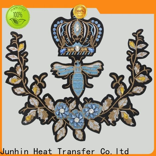 Junhin sew on patches wholesale for bags