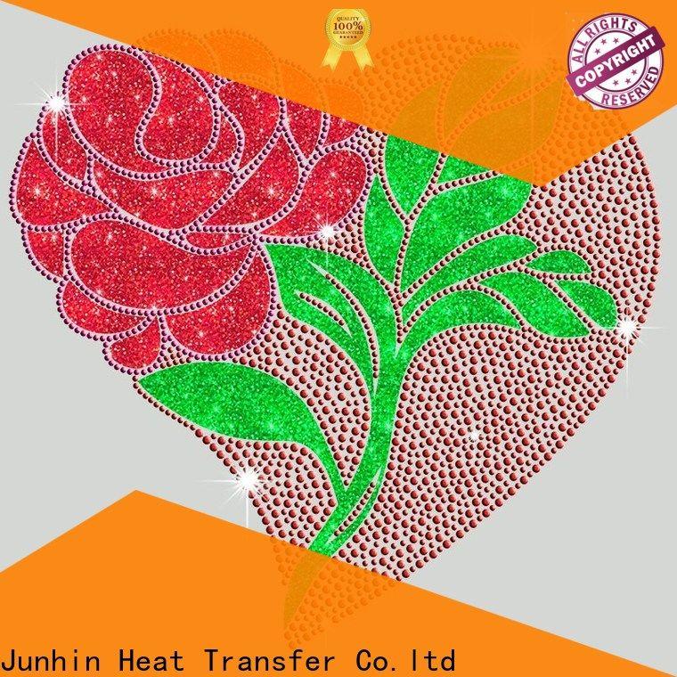 Junhin fashion hot fix rhinestone appliques supplier bulk production