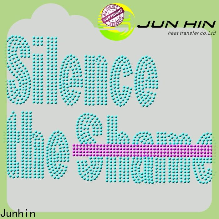 Junhin rhinestone iron on appliques directly sale for clothing