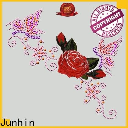 Junhin high-quality heat transfer embroidery patches personalized for textile