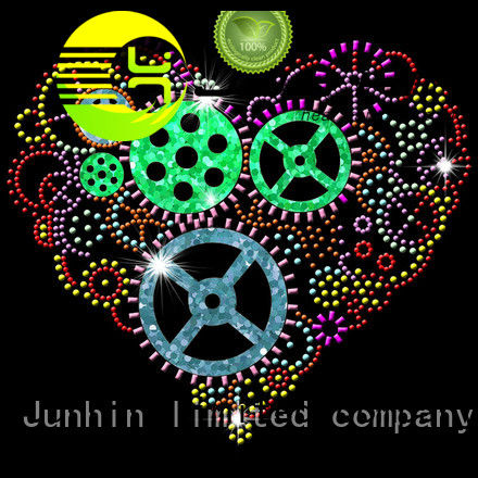 Junhin best price bling iron on patches wholesale for gifts