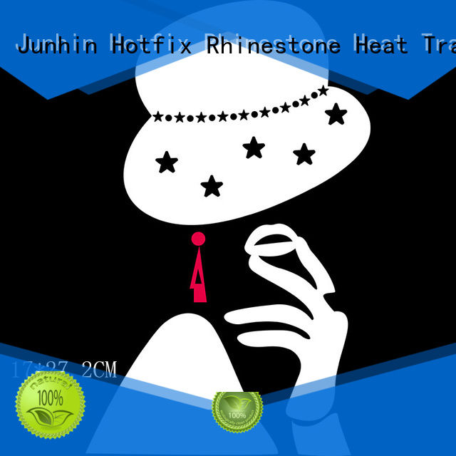 Junhin rhinestone iron on patches from China for decoration